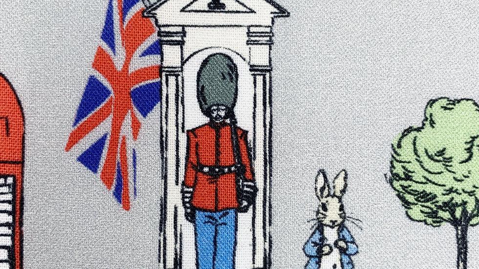 Peter Rabbit fabric (grey)
