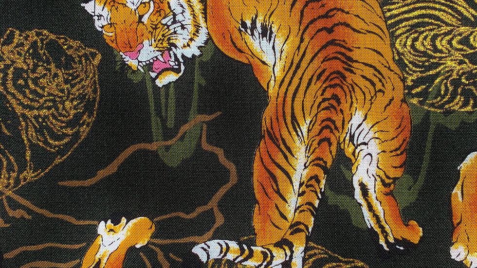Tora Tigers fabric (green)