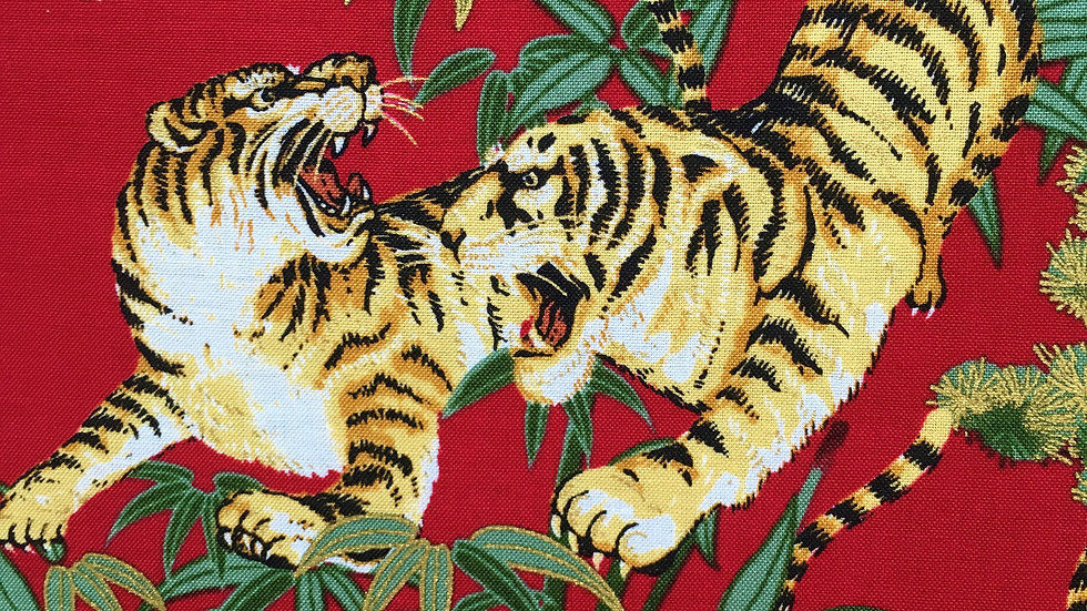 Tigers fabric (red)