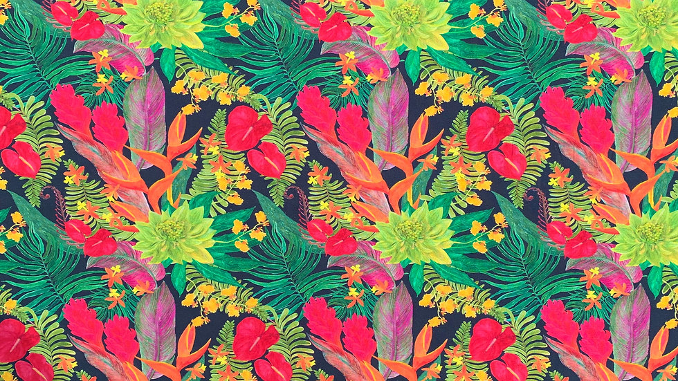Tropical Flowers fabric