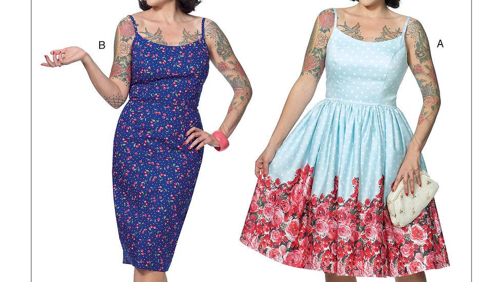 B6453 Retro Dress Sewing Pattern