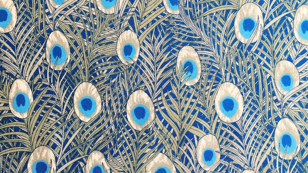 Peacock Feather fabric (slate)