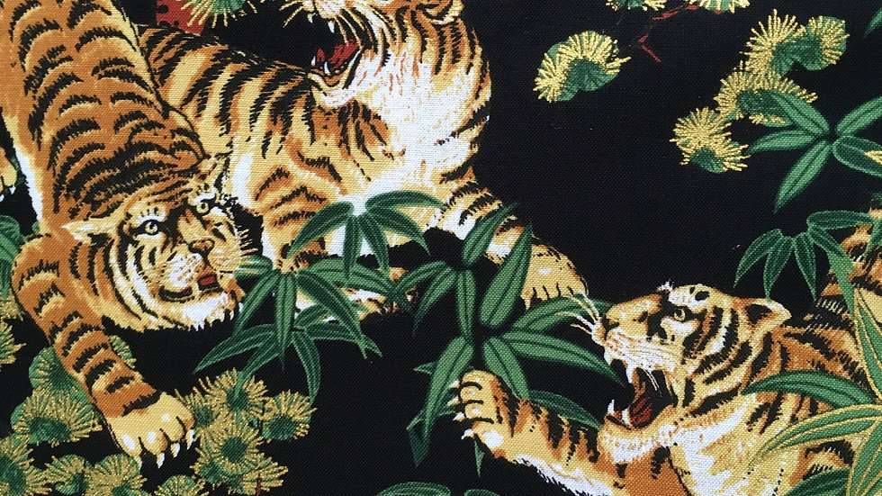Tigers fabric (black)