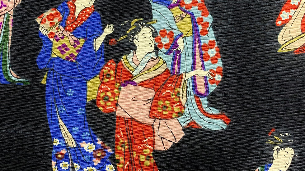 Geisha fabric (black)