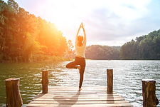 Healthy Yoga woman lifestyle balanced pr