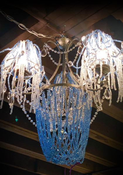 Blue and White Chandelier