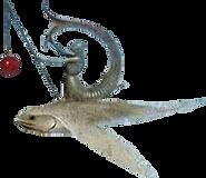 harnas op vliegende vis met speer-cutout