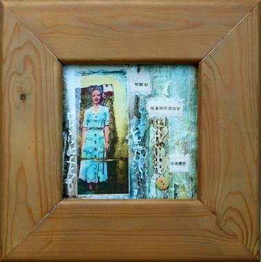 Garment Cast  collage on card 37cm x 37cm