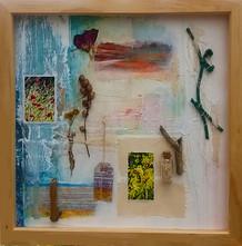 'Morning Tide'  mixed media on paper  45cm x 45cm
