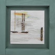 Green Beach II  mixed media on canvas 35cm x 35cm