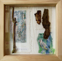 'Sere'  mixed media on paper 24cm x 24cm