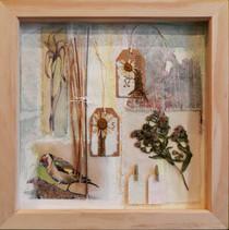 Seasons Resplendence    (sold)  mixed media on paper 36cm x 36cm