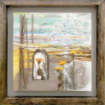 Some Velvet Morn  mixed media on canvas 41cm x 41cm