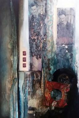 Whisper of Zephyrs Chord  mixed media on canvas 90cm x 60cm