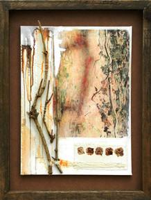 'Hedera'  mixed media on canvas 53cm x 41cm