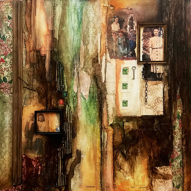 Nothing Will Dim the Light  mixed media on canvas 90cm x 90cm