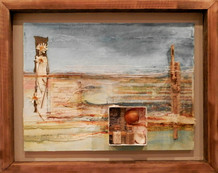 'Ocean Rest'  mixed media on canvas 51cm x 41cm