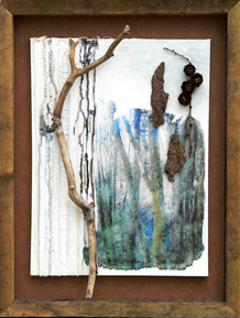 'Elysian Quiet II'  mixed media on canvas 53cm x 41cm