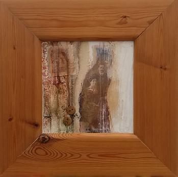 Closet of Soul  collage on canvas 37cm x 37cm