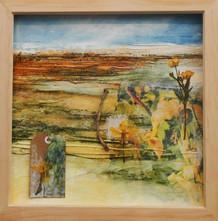 'Sense of Place I'  mixed media on paper  36cm x 36cm