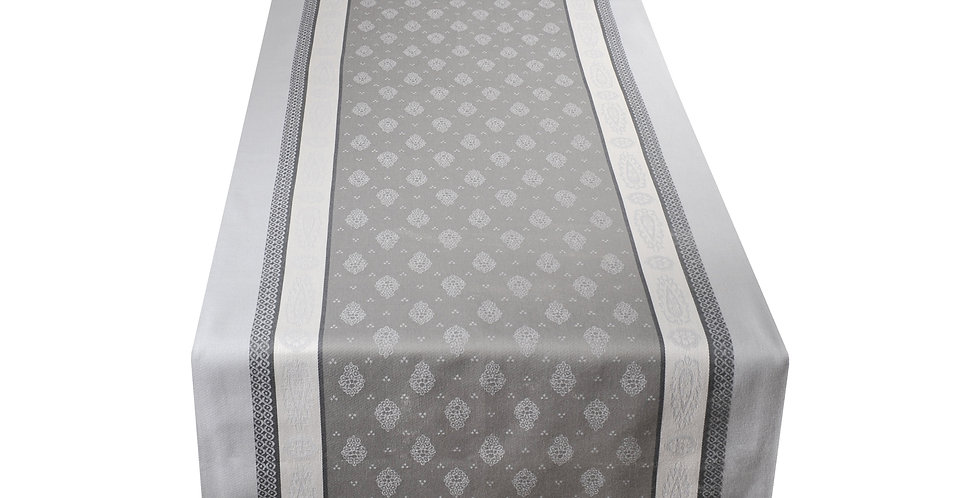 Grey Vaucluse Jacquard Woven Table Runner