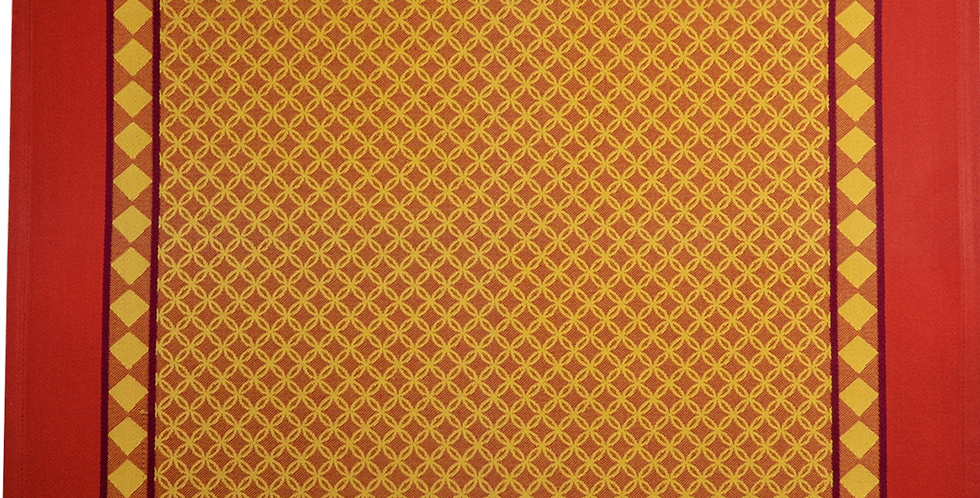 French Napkin Jacquard Yellow/Red Marius
