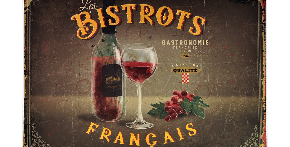 French Bistro Laminated Placemat