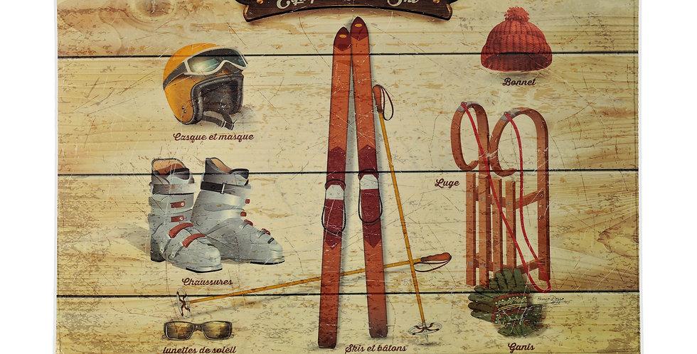 Ski Equipment Laminated Placemat