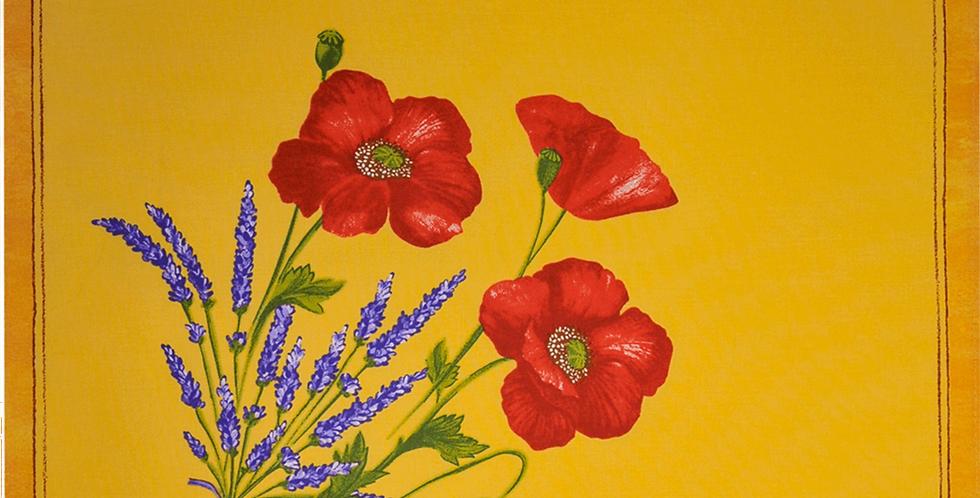 French Napkin Cotton Yellow Poppy