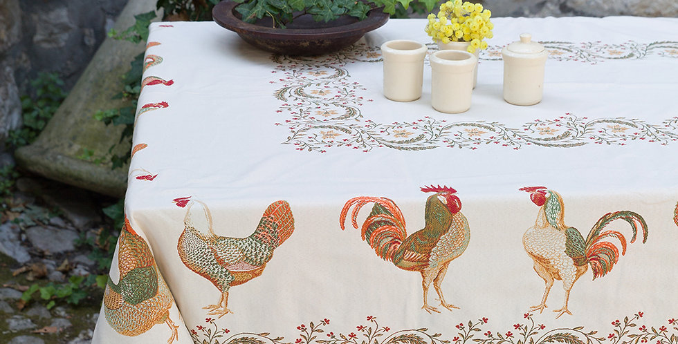 Chanteclair Jacquard Tapestry Tablecloths