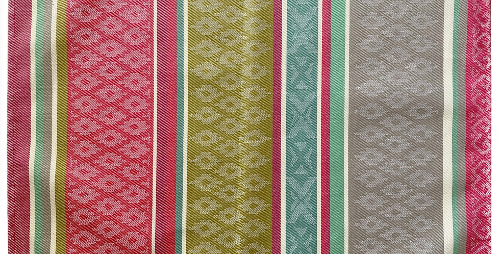 Pink/Green Azteca Jacquard Woven Coated Placemat