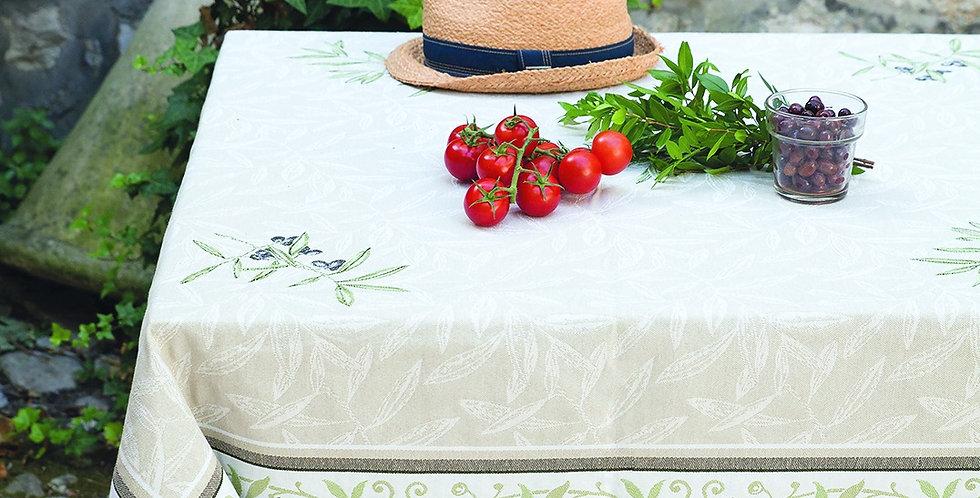 Ecru/Green Auriol Tapestry Tablecloth
