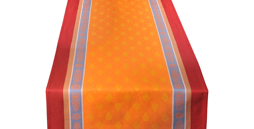 Orange/Red Vaucluse Jacquard Woven Table Runner