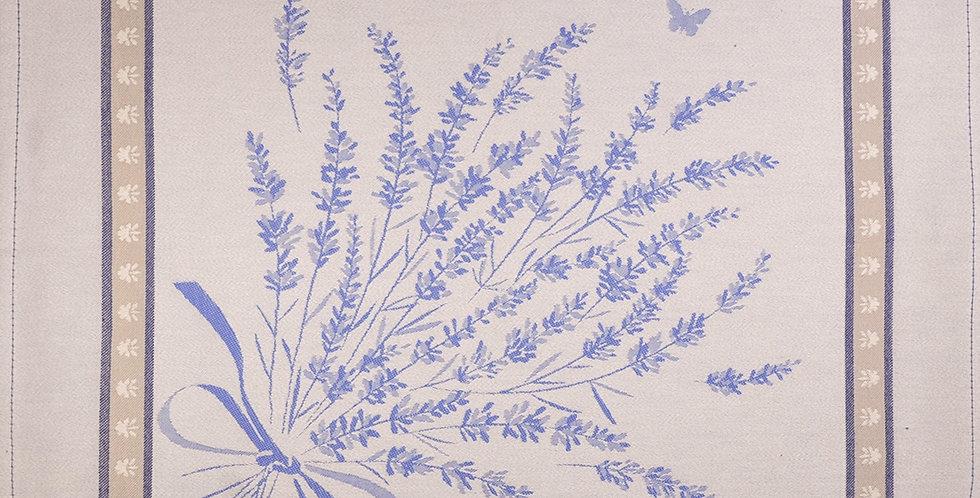 Ecru/Blue Grignan Jacquard Woven Napkin