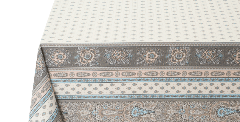Turquoise Bastide Coated Cotton Tablecloths