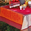 Thumbnail: Red Olive Jacquard Woven Tablecloths