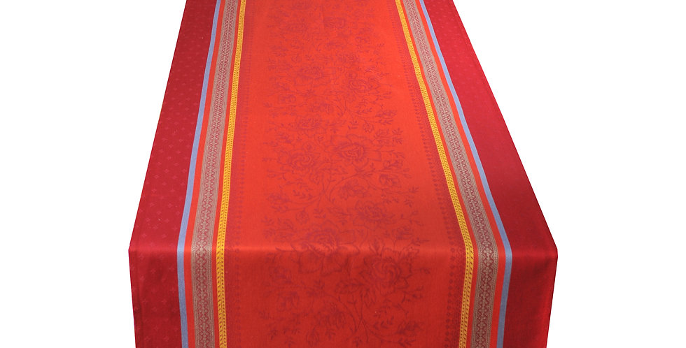 Red Massilia Jacquard Woven Table Runner