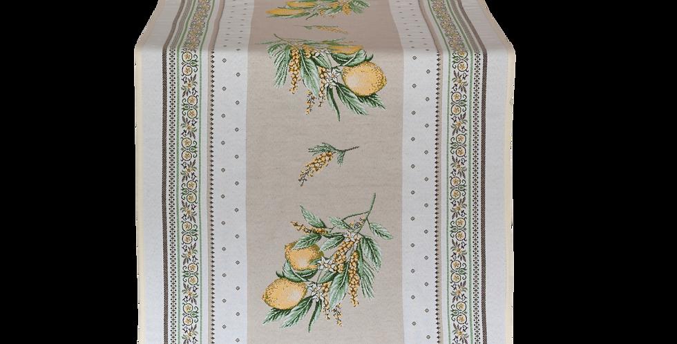 French Table Runner Jacquard Tapestry Menton