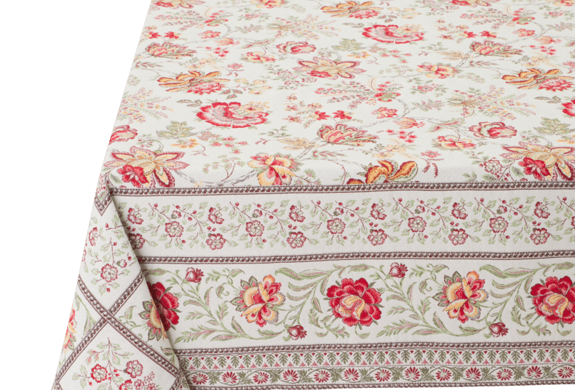 Red/Yellow Garance Jacquard Tapestry Tablecloths