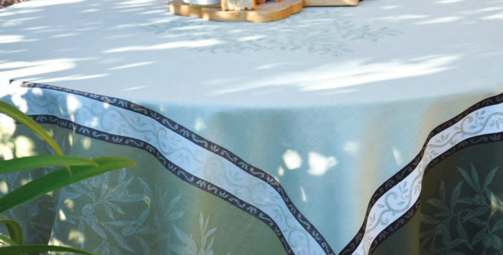 Green Olive Jacquard Woven Tablecloths