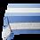 Thumbnail: French Tablecloth Jacquard Ecru/Blue Grignan