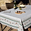 Thumbnail: French Tablecloth Coated Ecru/Green Beaucaire