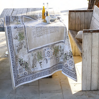 French tablecloth table topper riviera