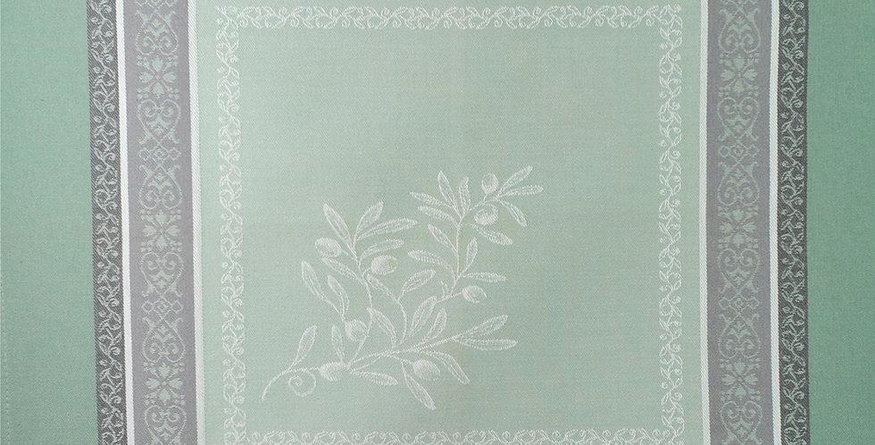 French Napkin Jacquard Green Olivia