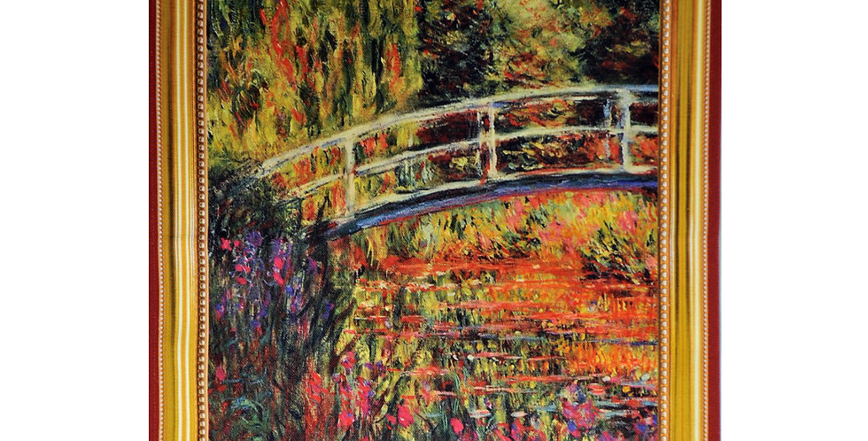 Monet Water Lily Pond Printed Cotton Kitchen Towel