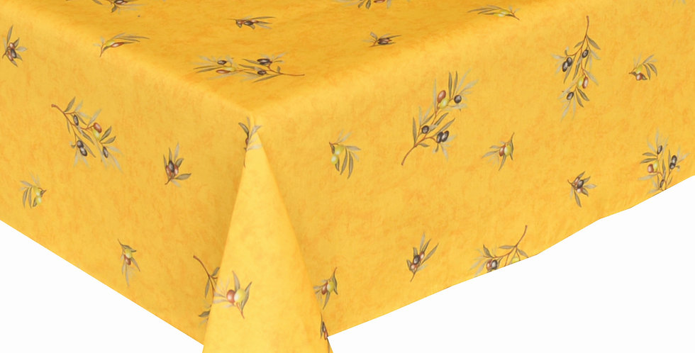 Yellow Clos Des Oliviers All Over Coated Cotton Tablecloths