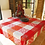 Thumbnail: Red/Grey Carces Jacquard Woven Tablecloths
