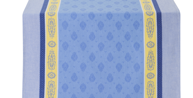 Blue/Yellow Vaucluse Jacquard Woven Table Runner