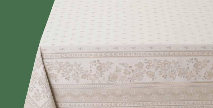 Beige Durance Jacquard Woven Tablecloths