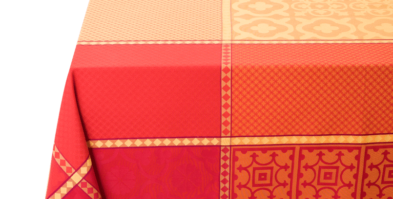 Yellow/Red Marius Jacquard Woven Tablecloths